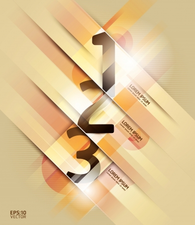 Modern Design number template   can be used for infographics   numbered banners   horizontal cutout lines   graphic or website layout   Vector