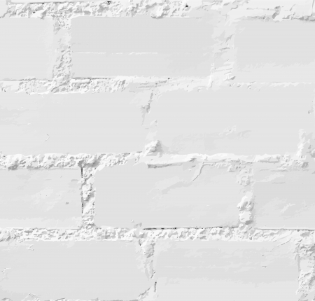 White brick wall, seamless Vector