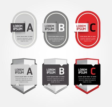 Modern Design Labels  Stock Vector - 17997504