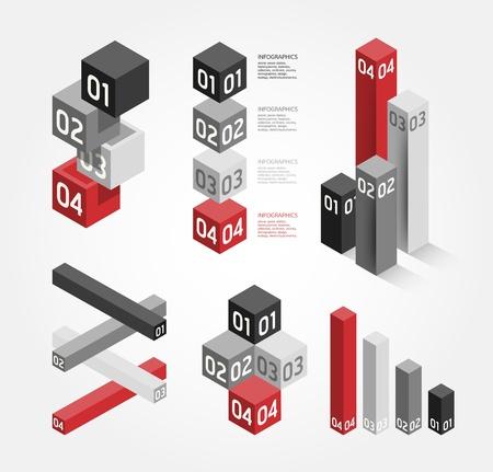 numbered: Moderno design grafico  pu� essere usato per infografica  numerata banner  grafica o al sito web layout di vettore