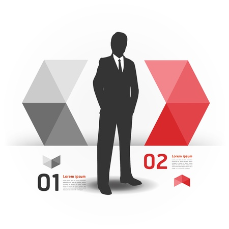 Modern Design template with business man Stock Vector - 17997454
