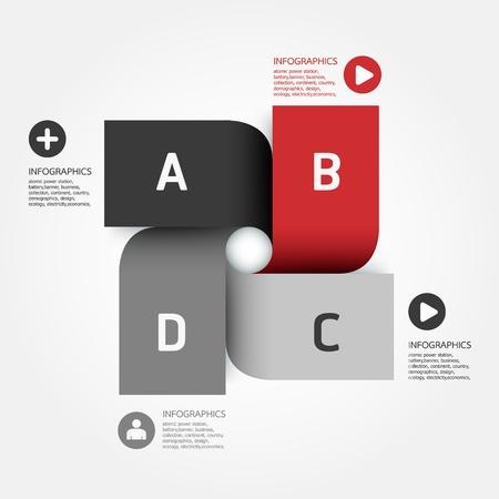 briefpapier: Modernes Design-Vorlage Illustration