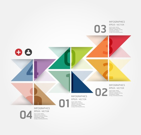 numbers abstract: Modern Design template