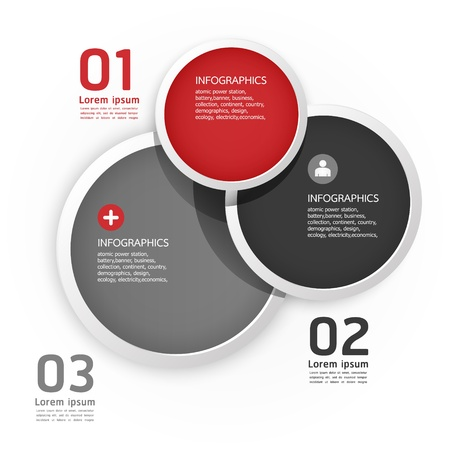 Modern Design Circle template   Illustration