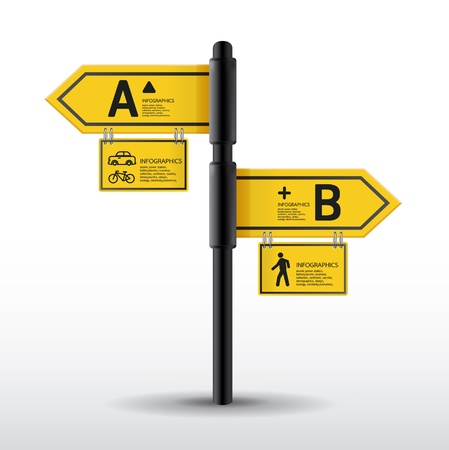 road: Modern road sign Design template   can be used for infographics   sign banners   horizontal cutout lines   graphic or website layout
