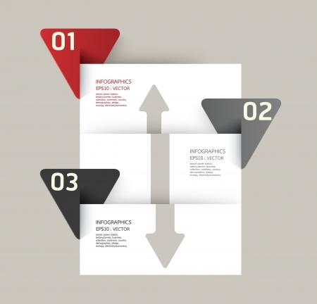numbered: Design moderno modello pu?sere utilizzato per infografica numerati banner linee di foratura orizzontali grafiche o al sito web il layout