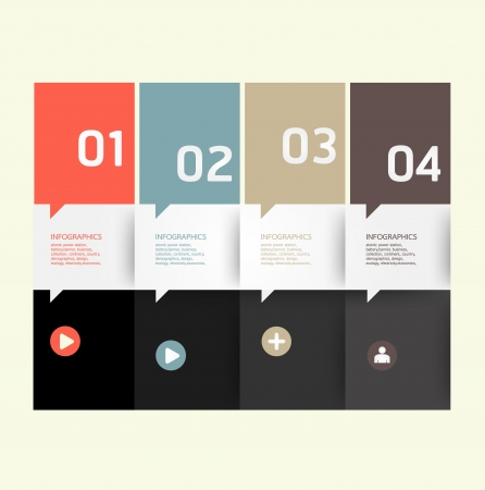 modern abstract design: Modern Design template   can be used for infographics   numbered banners   horizontal cutout lines   graphic or website layout