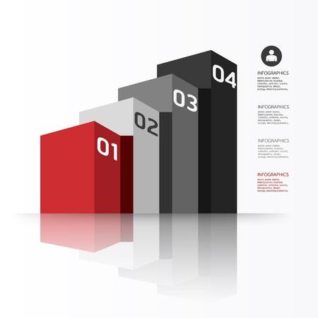 numbered: Moderno modello grafico  pu� essere utilizzato per infografica  banner numerati  linee di ritaglio orizzontale  layout grafico o al sito web