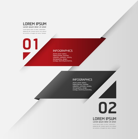 Modern Design template / can be used for infographics / numbered banners / horizontal cutout lines / graphic or website layout vector Vector
