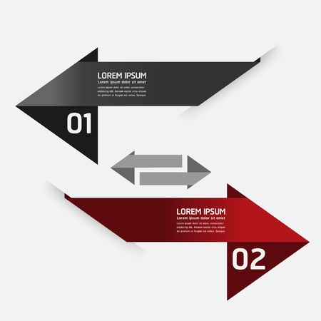 head tag: Modern Design template  can be used for infographics  numbered banners  horizontal cutout lines  graphic or website layout