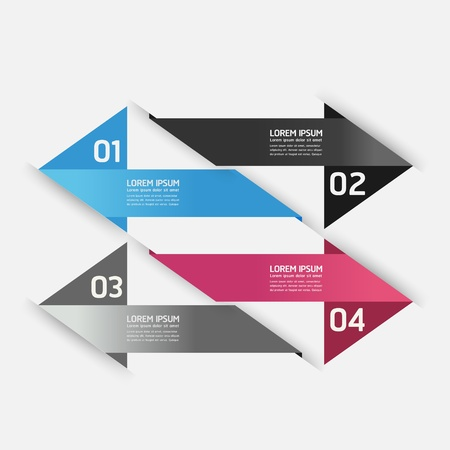 Modern Design template / can be used for infographics / numbered banners / horizontal cutout lines / graphic or website layout Stock Vector - 19583666