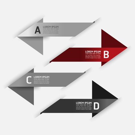 Modern Design template / can be used for infographics / numbered banners / horizontal cutout lines / graphic or website layout Stock Vector - 19583669