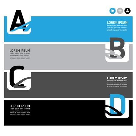 numbered: Modello di Design Moderno  pu? essere utilizzato per infografica  banner  linee numerate ritaglio orizzontale  layout grafico o al sito web