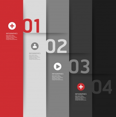 Modern Design template   can be used for infographics   numbered banners   horizontal cutout lines   graphic or website layout Stock Vector - 19583651