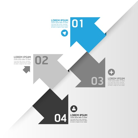 Modern Design template   can be used for infographics   numbered banners   horizontal cutout lines   graphic or website layout  Stock Vector - 19583665