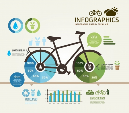 bicycle silhouette: Modern Design bicycle template   can be used for infographics   numbered banners   horizontal cutout lines   graphic or website layout