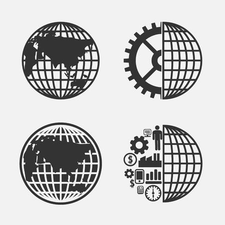 Icon creative Globe earth