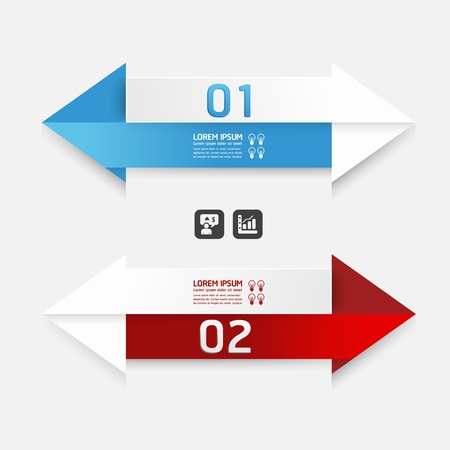 Modern Design template arrow style  can be used for infographics   numbered banners   horizontal cutout lines   graphic or website layout vector Vector