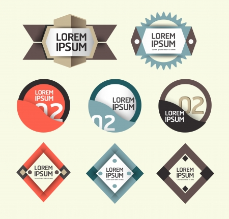 Modern Design modern Labels   can be used for infographics   numbered banners   graphic or website layout vector Horizontal Stock Vector - 20138499