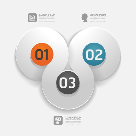 Modern Design template   can be used for infographics   numbered banners   horizontal cutout lines   graphic or website layout vector Stock Vector - 20138437