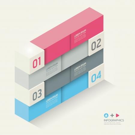 oktatás: Modern Design template izometrikus stílus  lehet használni infographics  számozott banner  vízszintes kivágott sor  grafikus vagy weboldal layout vektor Illusztráció