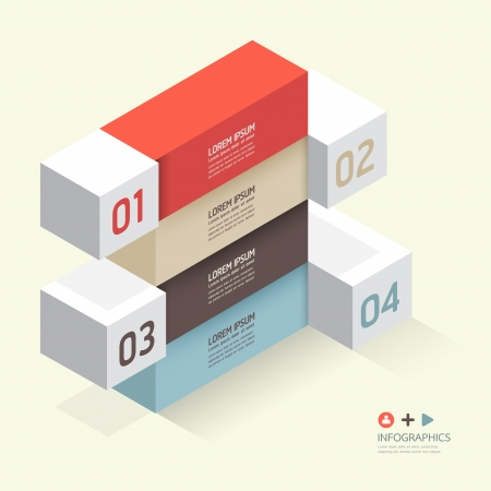 Modern Design template isometric style/ can be used for infographics / numbered banners / horizontal cutout lines / graphic or website layout vector Stock Vector - 20138498