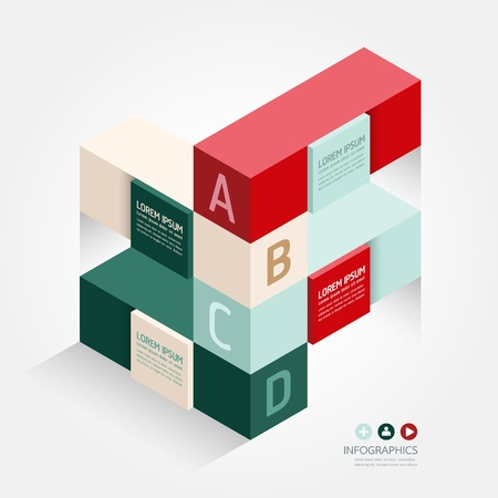 Modern Design template isometric style/ can be used for infographics / numbered banners / horizontal cutout lines / graphic or website layout vector Stock Vector - 20138497