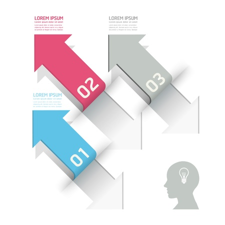 Modern Design template / can be used for infographics / numbered banners / horizontal cutout lines / graphic or website layout vector Stock Vector - 20138505