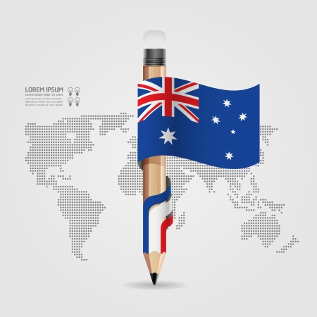 Creative Template with pencil flag banner    can be used for infographics   banners   concept vector illustration Stock Vector - 20138496