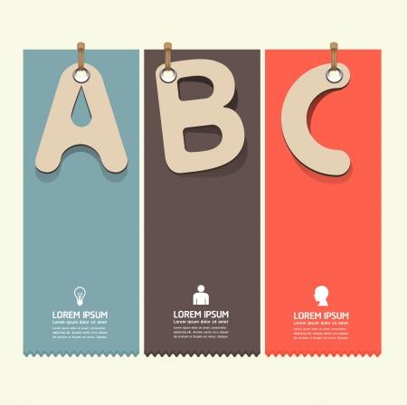 concept: Design moderno modello di carta in stile tag può essere utilizzato per infografica numerati banner linee di ritaglio orizzontale grafiche o al sito web layout di vettore Vettoriali