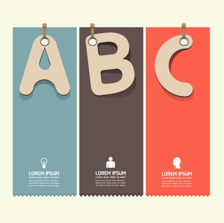 graphic element: Modern Design template paper tag style  can be used for infographics   numbered banners   horizontal cutout lines   graphic or website layout vector  Illustration
