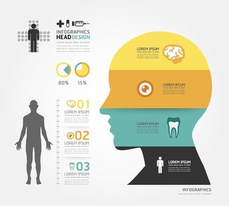 건강: 의료 인포 그래픽 디자인 템플릿