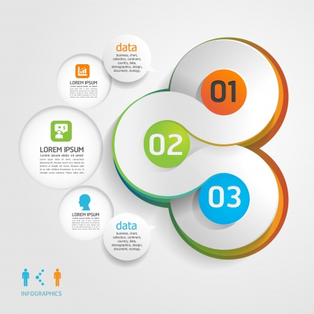 design elements: Modern Design template  can be used for infographics  numbered banners  horizontal cutout lines  graphic or website layout