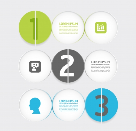Modern Design Minimal style infographic template Stock Vector - 20743855