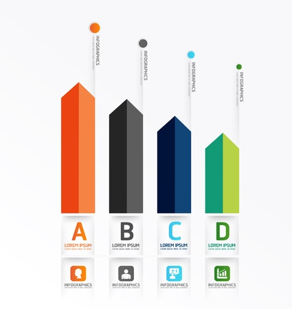 minimal: Dise�o de plantilla infograf�a estilo minimalista  se puede utilizar para la infograf�a  banners numerados  l�neas de corte horizontales  dise�o gr�fico o sitio web