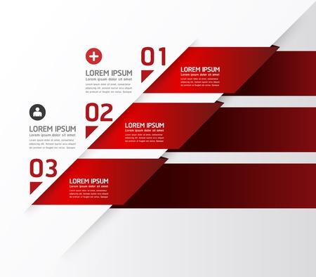 Modernes Design template / kann für Infografiken / nummeriert Banner / horizontal Ausschnitt Linien / Grafik oder Website-Layout verwendet werden Standard-Bild - 20753705