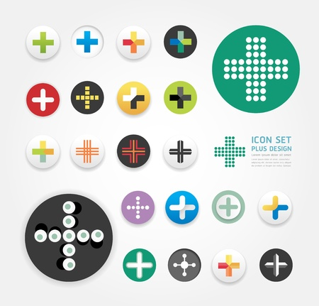 icons plus design set / can be used for infographics / graphic or website layout  Stock Vector - 20753710