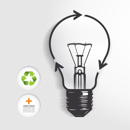 recycle light bulb concept Stock Vector - 20753711