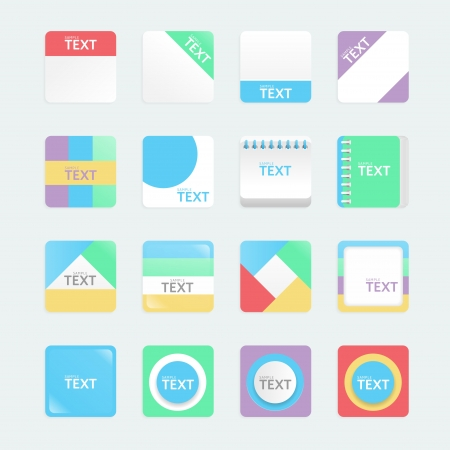 apps icons set soft colour style. Vector illustration Stock Vector - 20977289