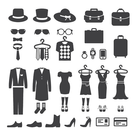 vintage clothing: Clothing Store shopping Icon vector