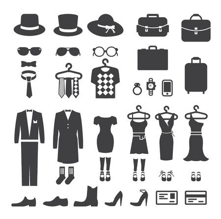 tienda de ropas: Tienda de ropa compras icono vector