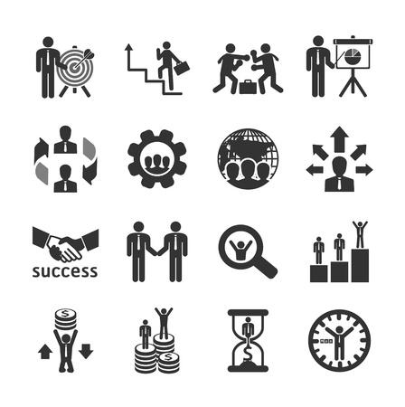 Icônes d'affaires et financiers fixés. Vector illustration.
