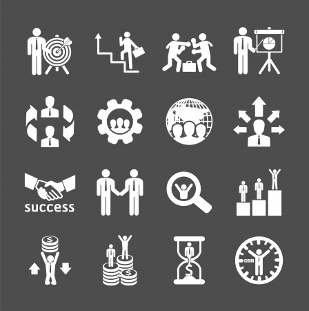Business and financial Icons set. Vector illustration. Vector