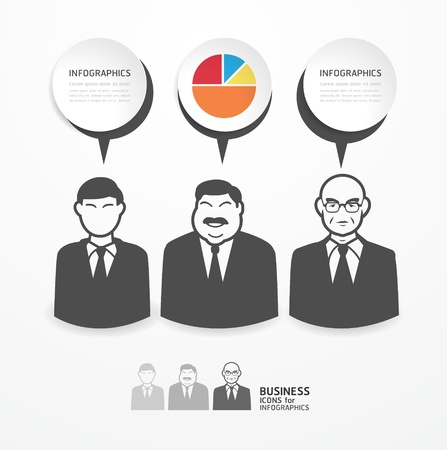 icons business people with dialog speech bubbles / can be used for infographics / business banners / education template / graphic or website layout vector Stock Vector - 20977147
