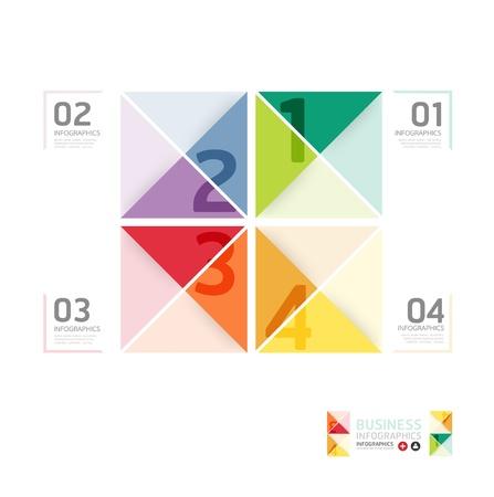 entwurf: Abstrakt Infografik Design-Minimal-Formatvorlage  kann für Infografiken  nummeriert Banner  horizontal Ausschnitt Linien  Grafik oder Layout der Website Vektor verwendet werden