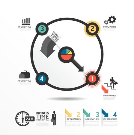 giáo dục: Trừu tượng vòng tròn Thiết kế Infographic phong cách tối thiểu mẫu  có thể được sử dụng cho infographics  biểu ngữ kinh doanh  giáo dục mẫu  hình ảnh hoặc trang web vector bố trí Hình minh hoạ
