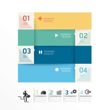 Modern Design soft colour template / can be used for infographics / numbered banners / horizontal cutout lines / graphic or website layout vector Stock Vector - 20988466