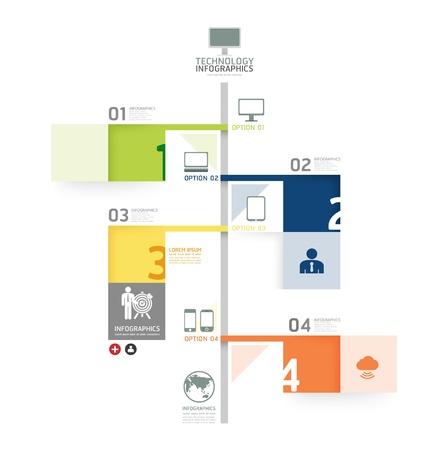 Infographie modèle de la ligne de temps de conception / peut être utilisé pour infographie / bannières numérotées / lignes de découpe horizontales / vecteur de mise en page graphique ou site web Vecteurs