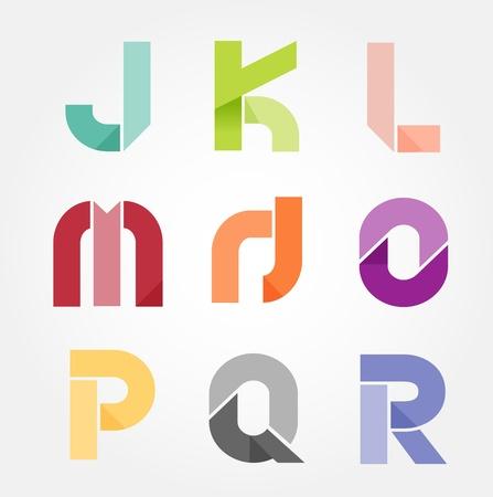alphabet modern paper cut abstract style Design. Vector illustration.