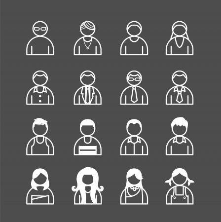 human Icons set. Vector illustration. Vector
